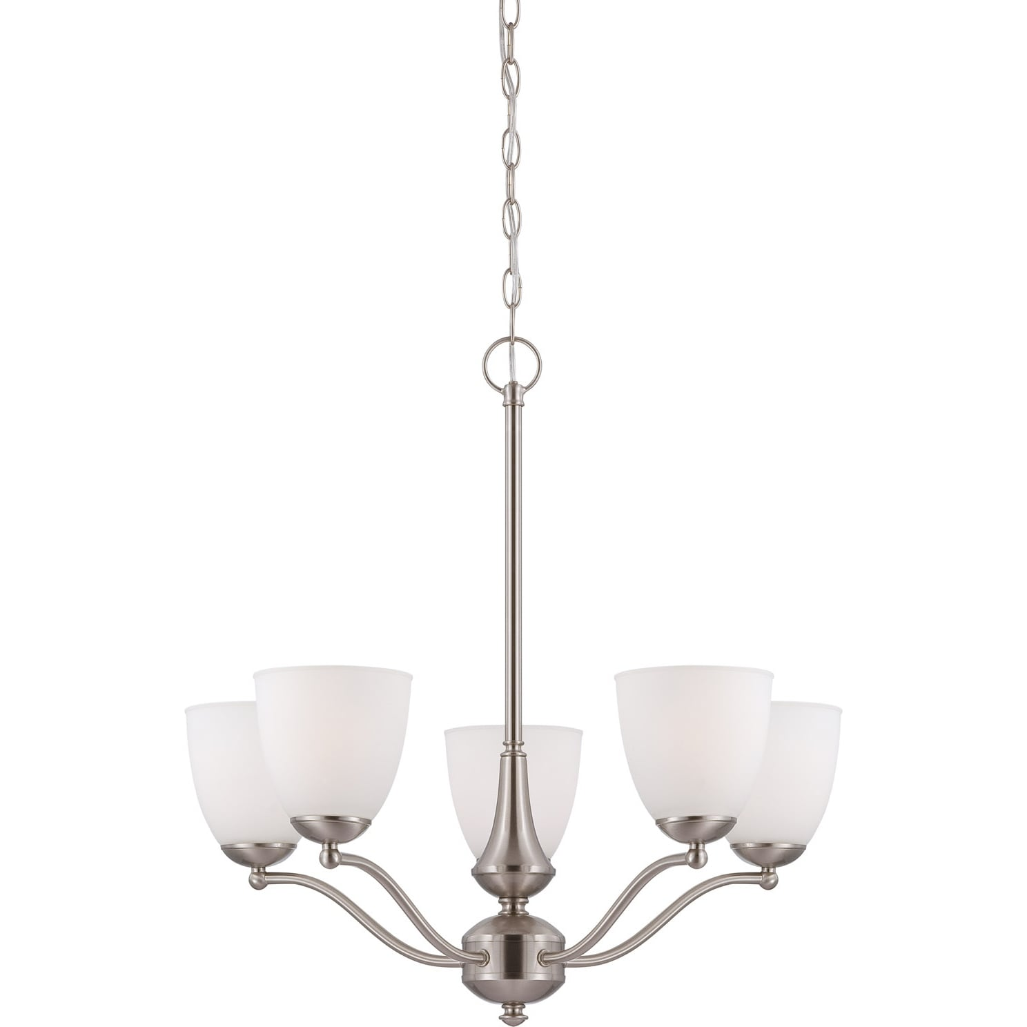 Nuvo 'Patton' 5-light Brushed Nickel Fluorescent Chandelier