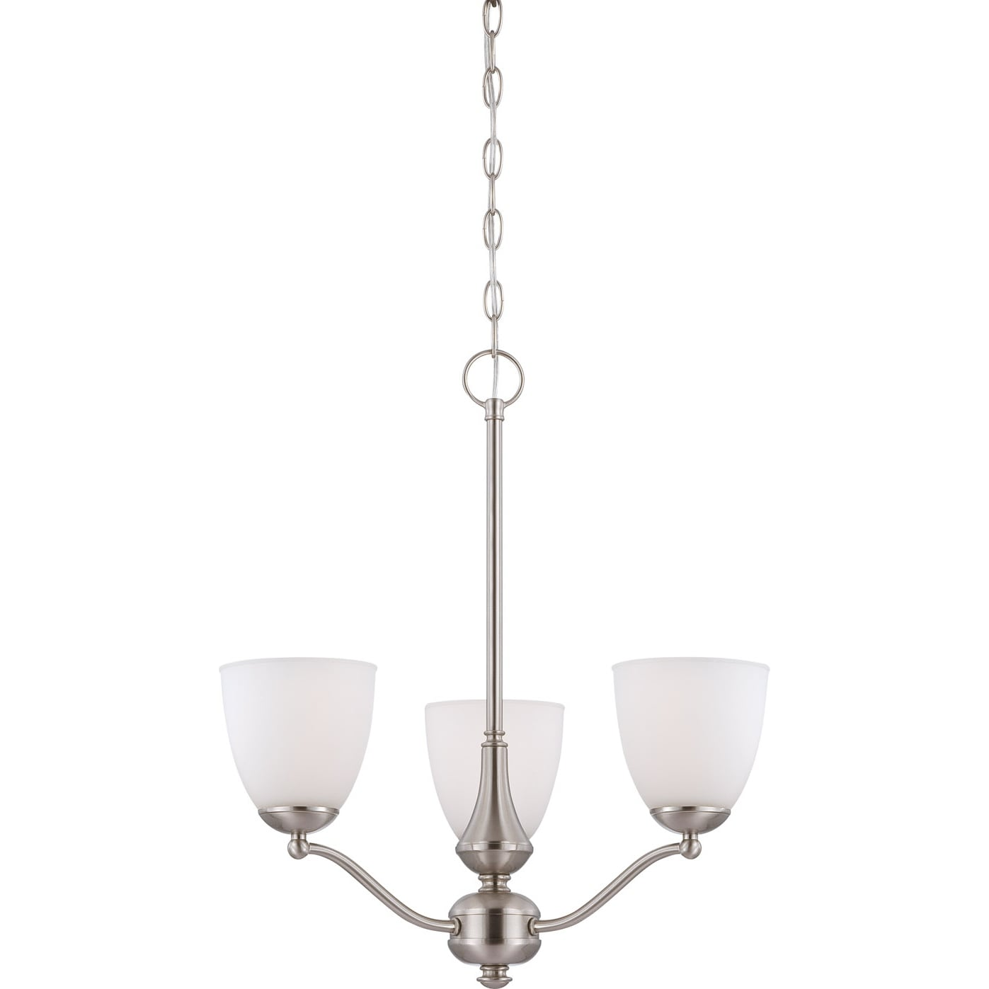 Nuvo 'Patton' 3-light Brushed Nickel Fluorescent Chandelier