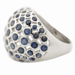 De Buman Sterling Silver 5 1/3ct TGW Sapphire Ring - Thumbnail 1