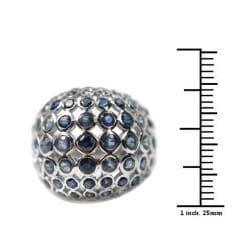 De Buman Sterling Silver 5 1/3ct TGW Sapphire Ring - Thumbnail 2