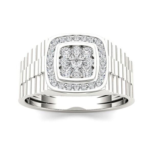 De Couer 10k Gold Men's 1/2ct TDW Diamond Ring