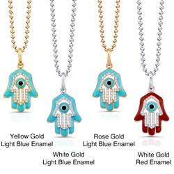 Victoria Kay 14k White Gold 1/5ct TDW Diamond Hamsa Pendant