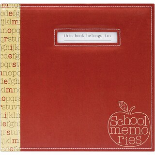 "School Memories Scrapbook 12""X12""-Red Apple"