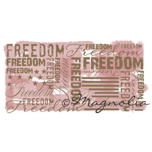Special Cling Stamp-Freedom Background