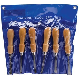 Excel Deluxe Carbon Steel Woodcarving Tool Set with Wood Handle