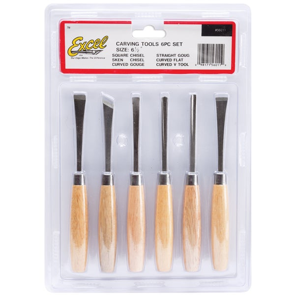 Beginners 6 Piece Woodcarving Set-