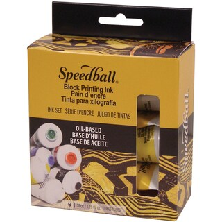 Speedball Oil Based Block Ink Starter Set 6/Pkg