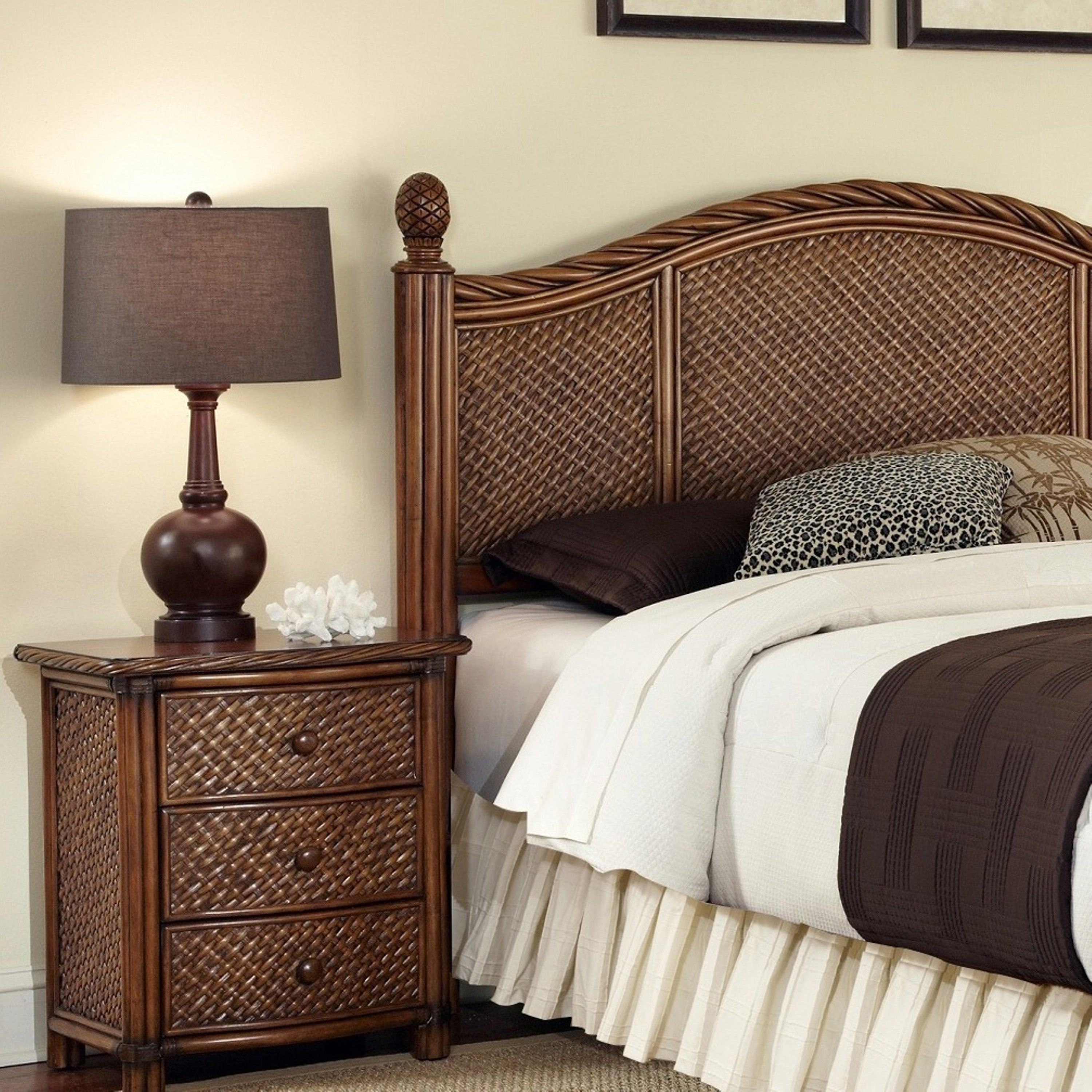 Marco Island Queen/Full Headboard and Night Stand Set by ...