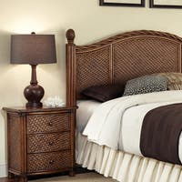 Marco Island Queen/Full Headboard and Night Stand Set by Home Styles