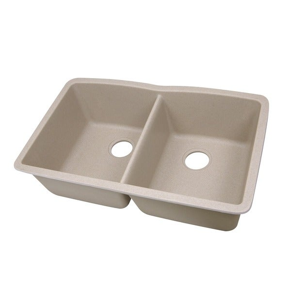 Highpoint collection 50 50 double bowl granite composite - Undermount granite composite kitchen sink ...