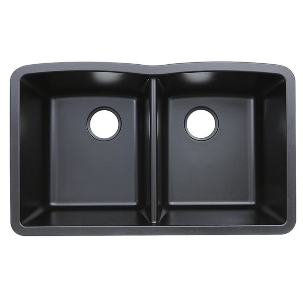 Highpoint Collection Granite Composite Black Undermount Kitchen Sink   Free  Shipping Today   Overstock.com   14581297