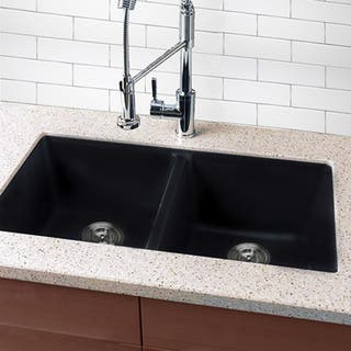 Shop Highpoint Collection Granite Composite Black Undermount ...