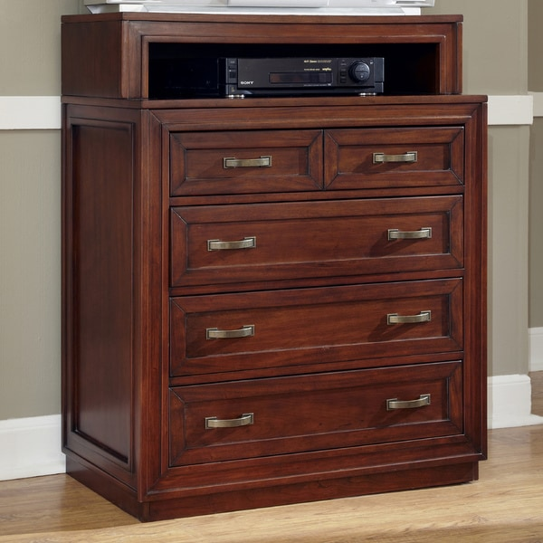 Cherry Duet Media Chest by Home Styles