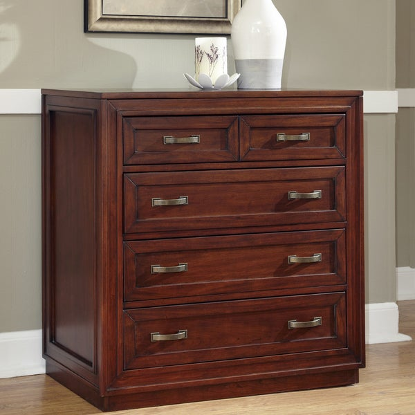 Cherry Duet Drawer Chest by Home Styles