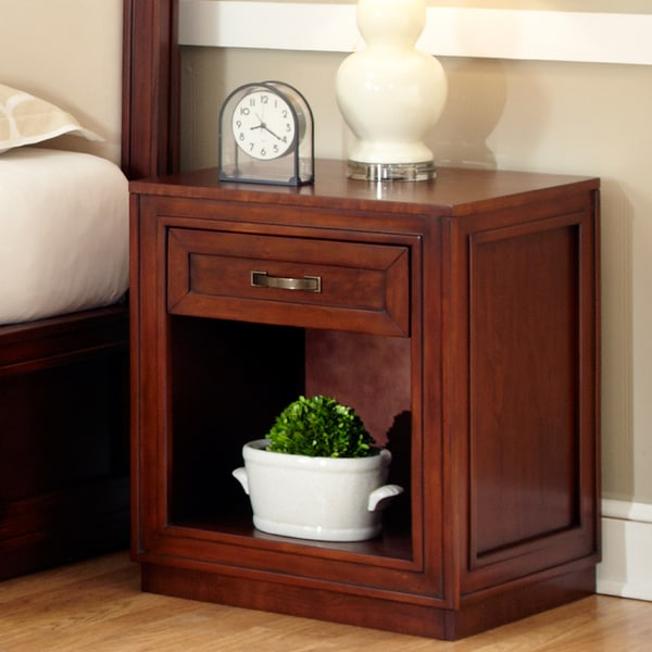 Cherry Duet Storage Night Stand by Home Styles
