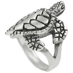 Journee Collection  Sterling Silver Sea Turtle Ring - Thumbnail 1