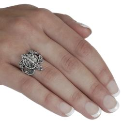 Journee Collection  Sterling Silver Sea Turtle Ring - Thumbnail 2