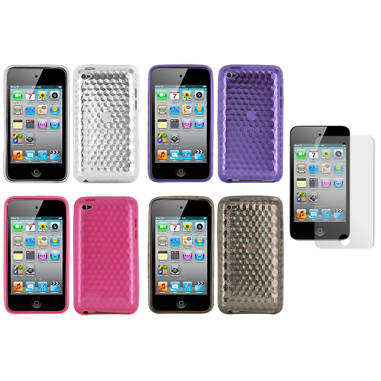 Premium Apple iPod Touch 4th Generation Diamond TPU Case with Screen Protector