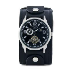 Nemesis Men's Black Leather Cuff Watch