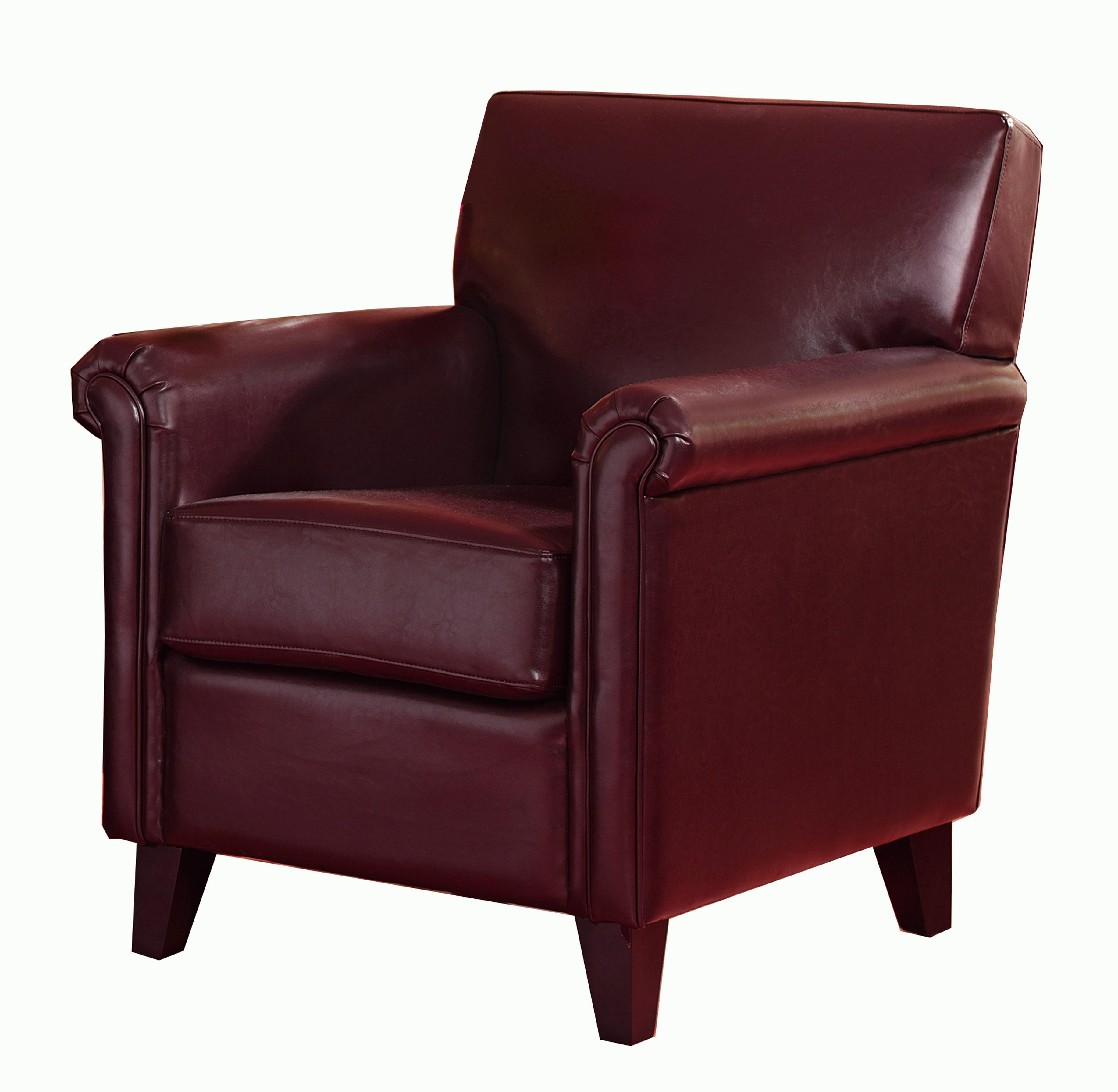 Leeds Red Bonded Leather Club Chair by Christopher Knight Home