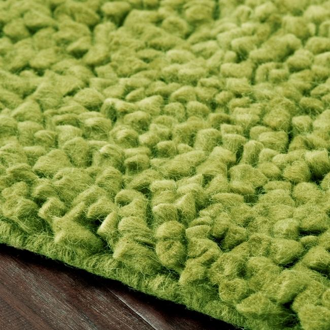 Hand-woven Nimbus Lime Green Wool Rug (5'x8')