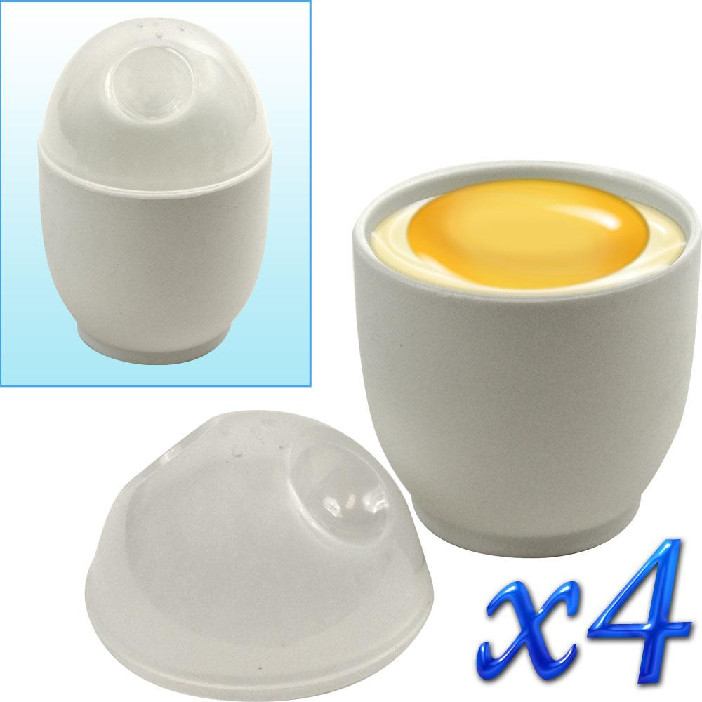 Trademark Home Microwave Egg Cookers (Pack of 4)