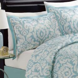 Jasmine Aqua Queen-size Comforter Set - Thumbnail 1