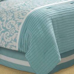 Jasmine Aqua Queen-size Comforter Set - Thumbnail 2