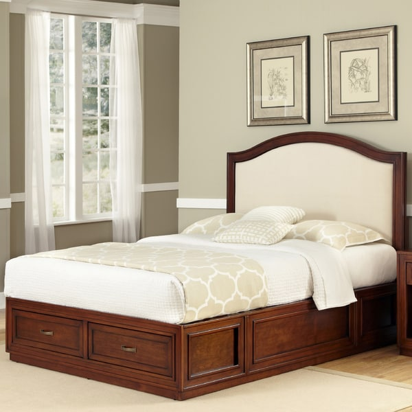Duet Platform Queen Microfiber Inset Bed by Home Styles