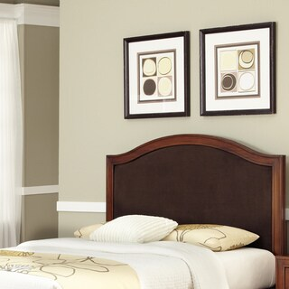 Duet King/California King Camelback Microfiber Inset Mahogany Headboard by Home Styles