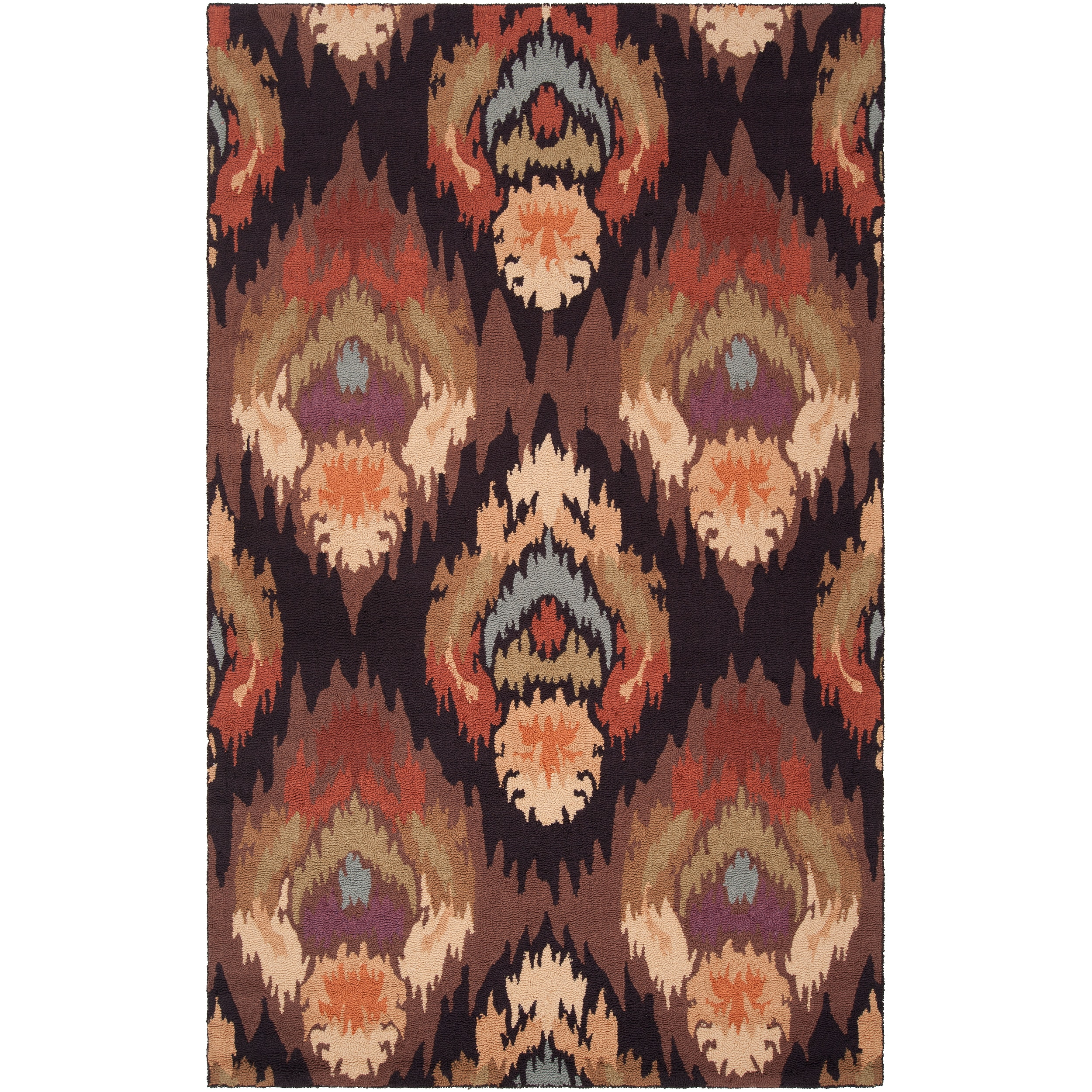 Hand-hooked Boxley Brown Sage Rug (2' x 2'9)