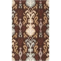 Hand-hooked Bryant Silt Brown Rug (2'6 x 4')
