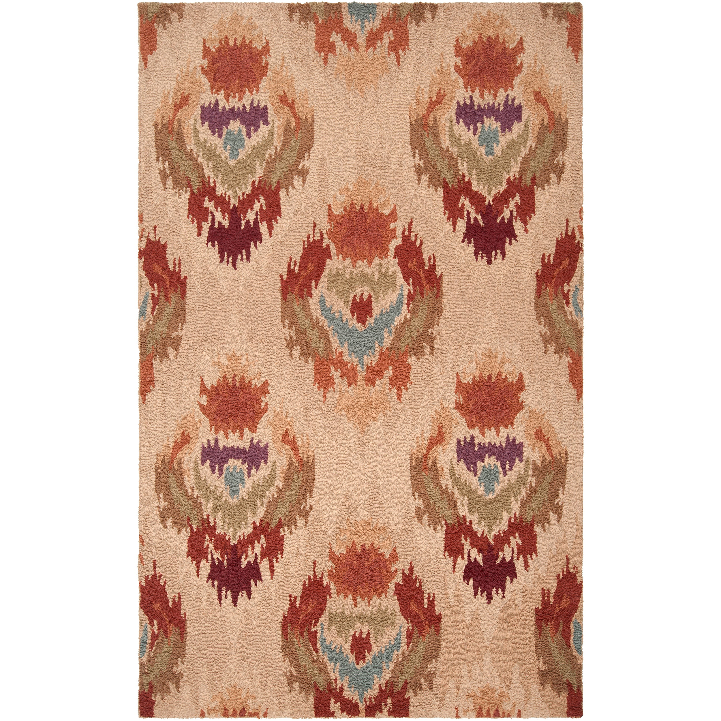 Hand-hooked Diaz Mossy Gold Rug (2' x 2'9)