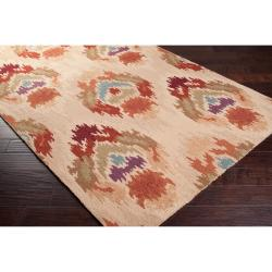 Hand-hooked Diaz Mossy Gold Rug (2' x 2'9) - Thumbnail 1