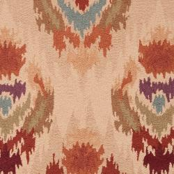 Hand-hooked Diaz Mossy Gold Rug (2' x 2'9) - Thumbnail 2
