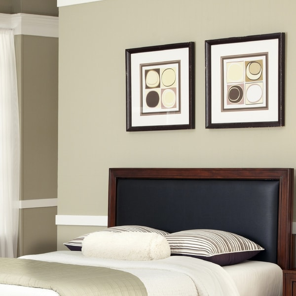Home Styles Duet King / California King Panel Headboard Black Leather Inset