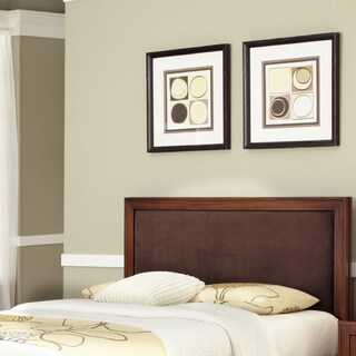 Duet King / California King Panel Headboard Brown Microfiber Inset by Home Styles