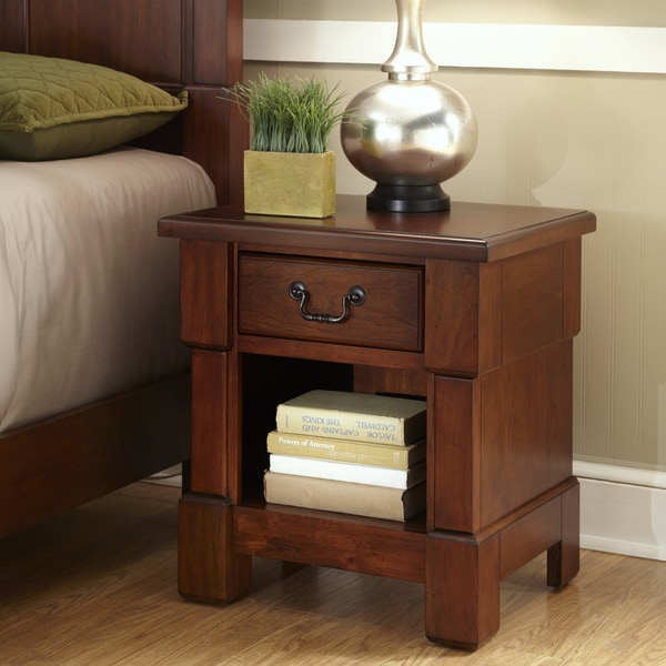 Shop Home Styles Aspen Rustic Cherry King Bedroom Set At: The Aspen Collection Mahogany Night Stand By Home Styles