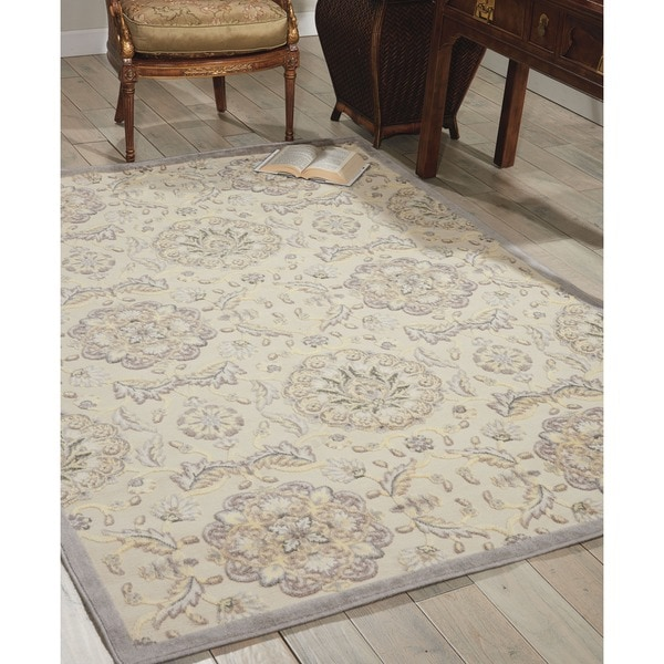 Nourison Graphic Illusions Modern Ivory Rug - 7'9 x 10'10