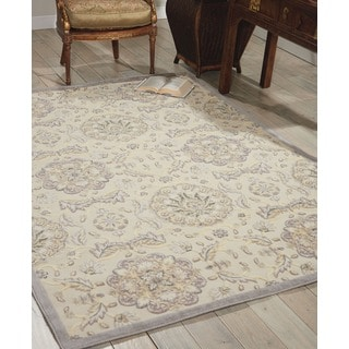Nourison Graphic Illusions Modern Ivory Rug (7'9 x 10'10)