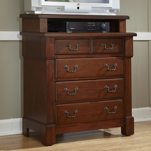 The Aspen Collection Mahogany Media Chest by Home Styles