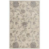 Nourison Graphic Illusions Ivory Floral Pattern Rug - 3'6 x 5'6