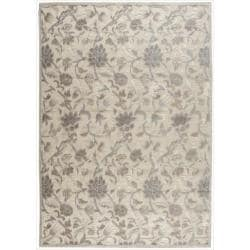 Nourison Graphic Illusions Ivory Floral Pattern Rug (5'3 x 7'5)
