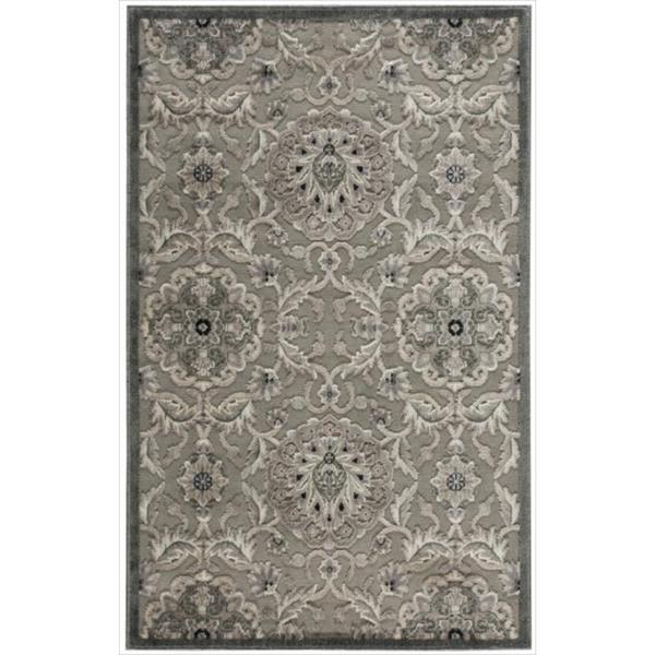 Nourison Graphic Illusions Grey Modern Traditional Rug (3'6 x 5'6)