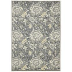 Nourison Graphic Illusions Floral Grey Rug (3'6 x 5'6)