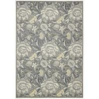 Nourison Graphic Illusions Floral Grey Rug - 3'6 x 5'6