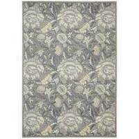 Nourison Graphic Illusions Floral Grey Rug (3'6 x 5'6) - 3'6 x 5'6