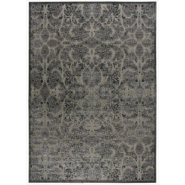Nourison Graphic Illusions Moasic Grey Rug (7'9 x 10'10)