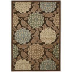 Nourison Graphic Illusions Floral Pastel Mutli Color Rug (5'3 x 7'5)