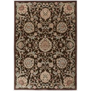 Nourison Graphic Illusions Medallion Chocolate Multi Rug (5'3 x 7'5)